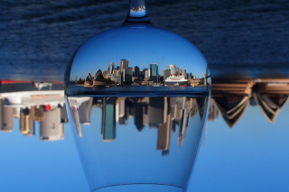 Sydney Australia In Wine Glass papel de parede para celular