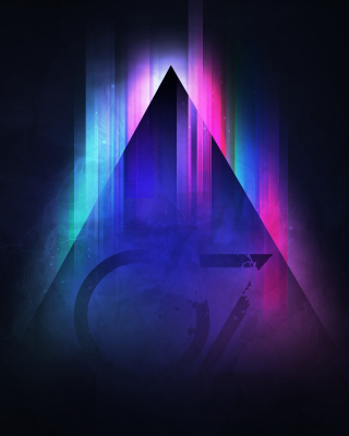 Colorful Triangle Vector Wallpaper for 240x320