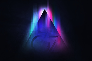 Kostenloses Colorful Triangle Vector Wallpaper für 1152x864