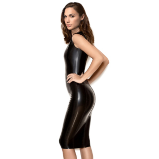 Gal Gadot Model in black latex Dress - Obrázkek zdarma pro Samsung B159 Hero Plus