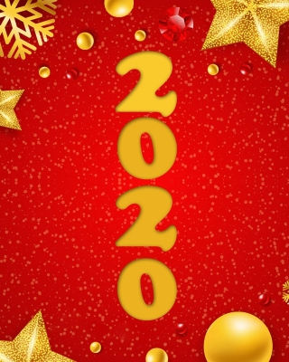 Happy New Year 2020 Messages Picture for 480x800