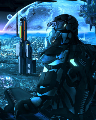 Astronaut in spacesuit on Alien Planet Wallpaper for Nokia C1-01