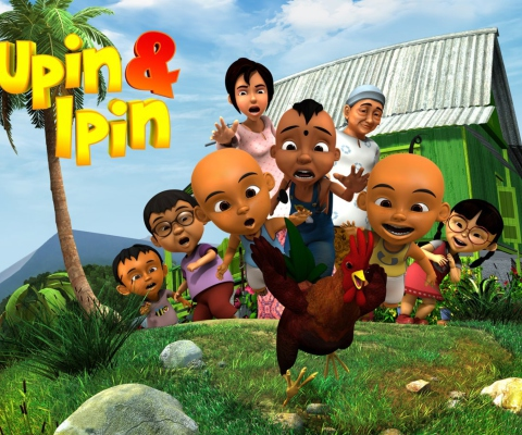 Upin & Ipin wallpaper 480x400