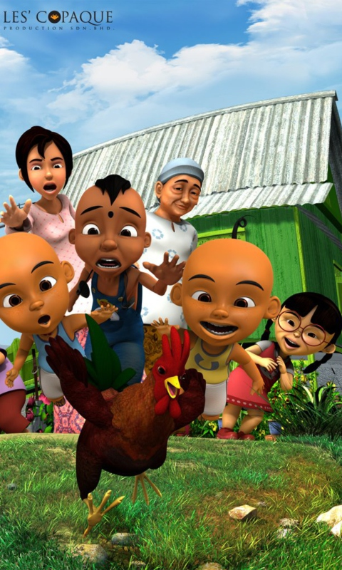 Upin & Ipin wallpaper 480x800