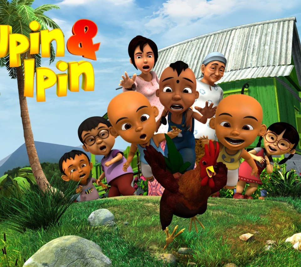 Upin & Ipin wallpaper 960x854