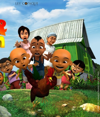 Upin & Ipin Wallpaper for Nokia Asha 306