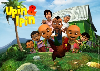 Upin & Ipin Background for 480x320
