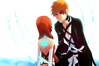 Free Inoue Orihime and Kurosaki Ichigo in Bleach Picture for Android, iPhone and iPad