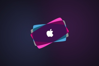 Simple Purple Apple Wallpaper for Android, iPhone and iPad