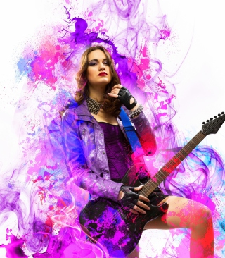 Music Girl Wallpaper for Nokia Asha 503
