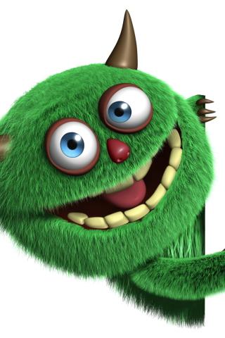 Fluffy Green Monster para Huawei G7300