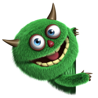 Fluffy Green Monster sfondi gratuiti per iPad 3