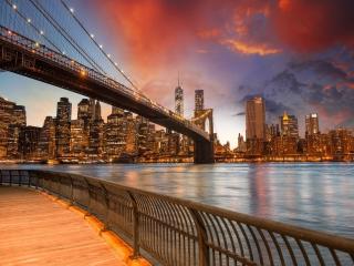 NYC - Brooklyn Bridge para Nokia Asha 201