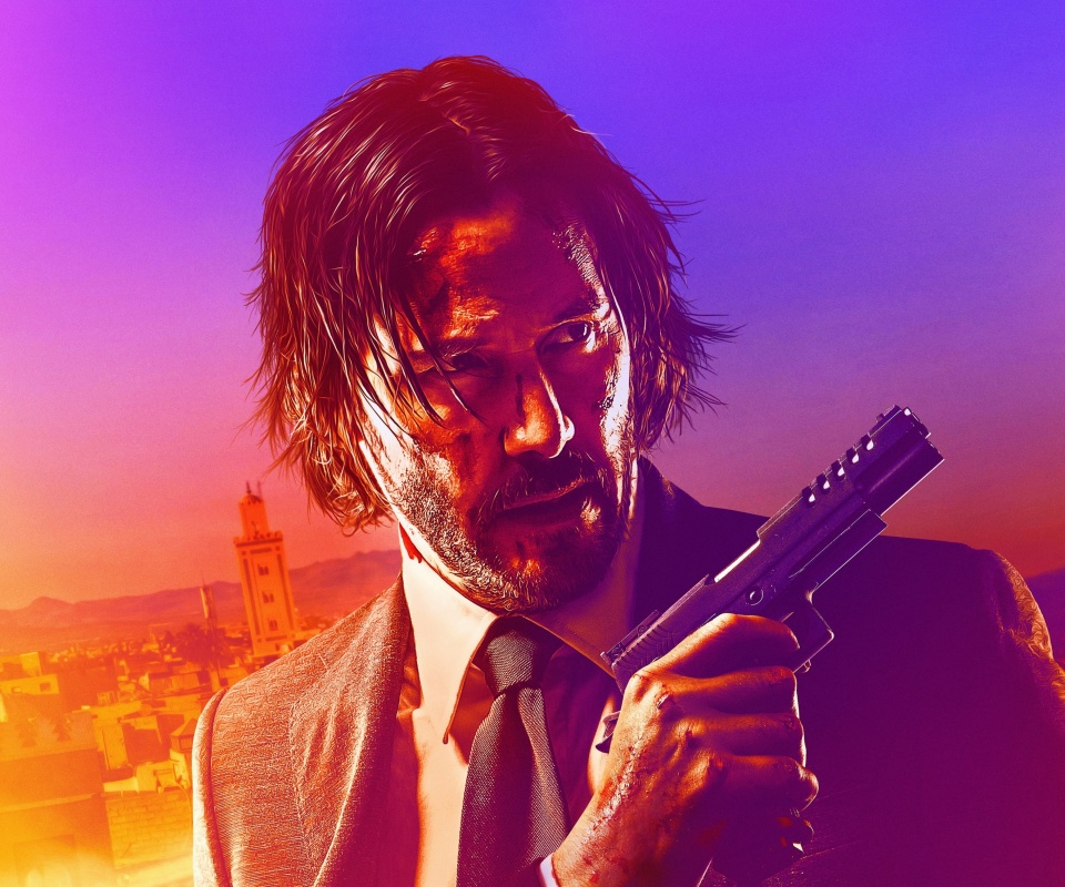 John Wick Chapter 3 Parabellum wallpaper 960x800