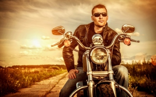 Motorcycle Driver Wallpaper for Android, iPhone and iPad