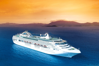 Dawn Princess in South Pacific Background for Android, iPhone and iPad
