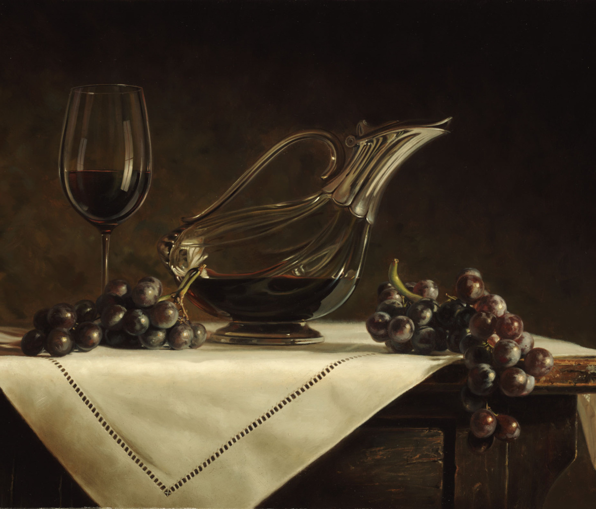 Still life grapes and wine screenshot #1 1200x1024