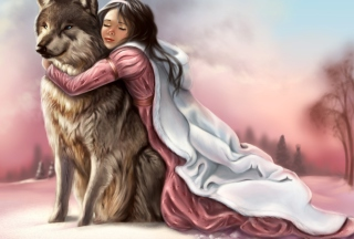 Princess And Wolf sfondi gratuiti per cellulari Android, iPhone, iPad e desktop
