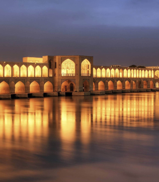 Khaju Bridge - Iran Picture for 240x320