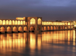 Khaju Bridge - Iran Background for Android, iPhone and iPad