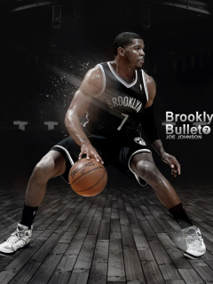 Screenshot №1 pro téma Joe Johnson from Brooklyn Nets NBA 240x320