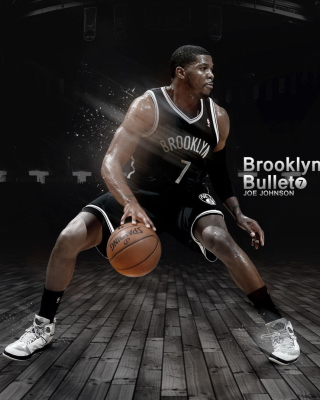 Joe Johnson from Brooklyn Nets NBA - Obrázkek zdarma pro Nokia Asha 501