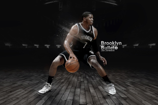 Joe Johnson from Brooklyn Nets NBA - Obrázkek zdarma pro 1366x768