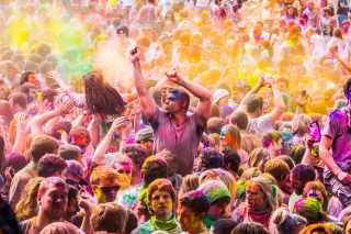 Festival Of Colors Wallpaper for Android, iPhone and iPad