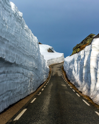 Road in Glacier Wallpaper for iPhone 6 Plus