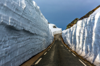 Road in Glacier Wallpaper for Android, iPhone and iPad