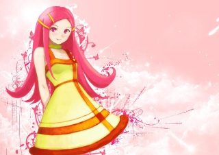 Girl With Pink Hair Wallpaper for Android, iPhone and iPad