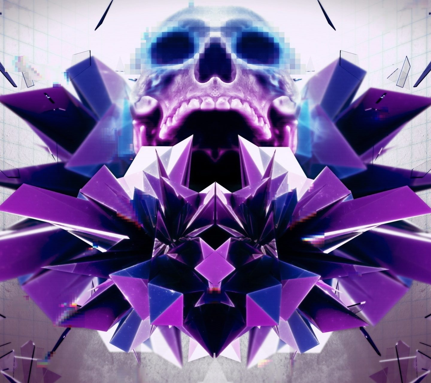 Abstract framed Skull screenshot #1 1440x1280