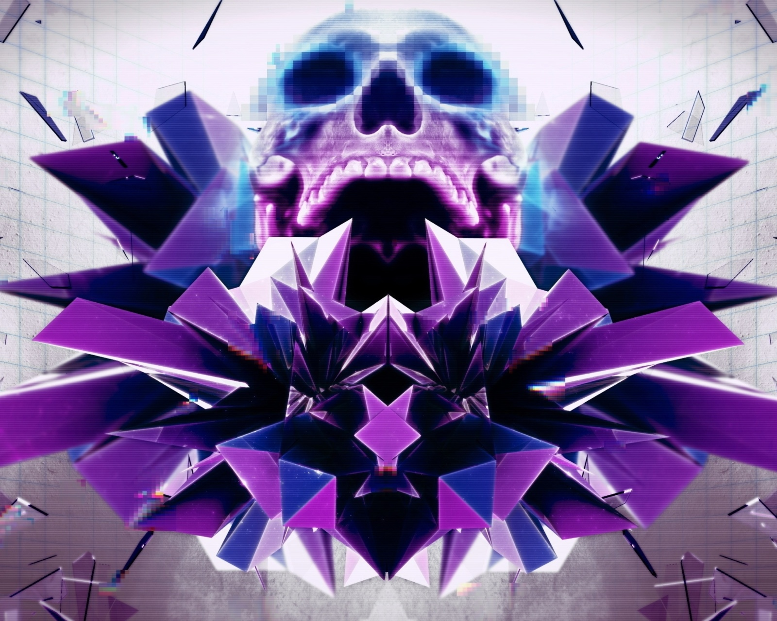 Screenshot №1 pro téma Abstract framed Skull 1600x1280