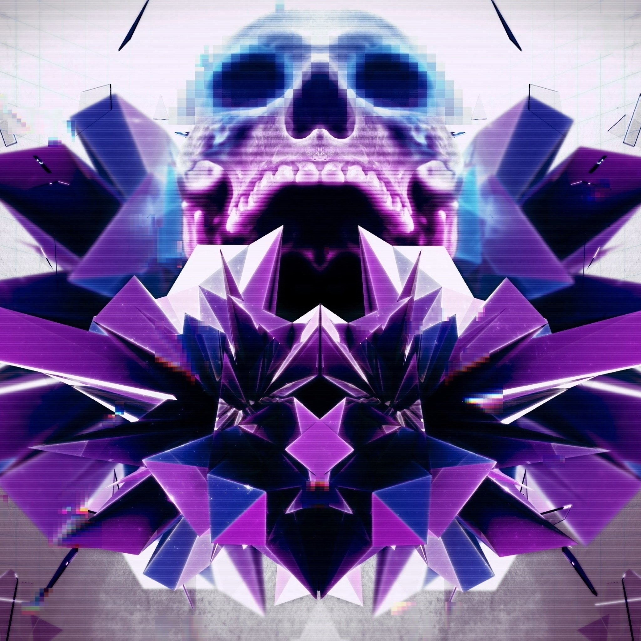 Screenshot №1 pro téma Abstract framed Skull 2048x2048