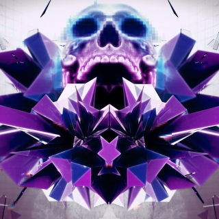 Abstract framed Skull Background for iPad 3