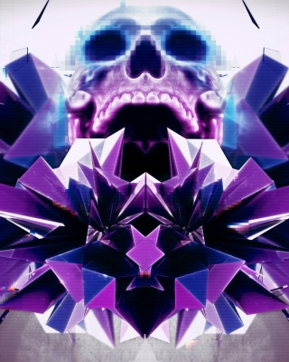 Kostenloses Abstract framed Skull Wallpaper für Nokia Asha 308
