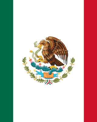 Flag of Mexico Background for 640x1136