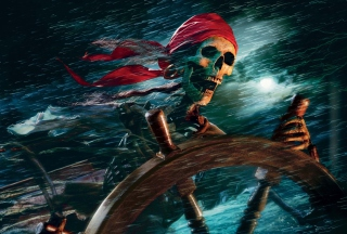 Sea Pirate Skull Picture for Android, iPhone and iPad