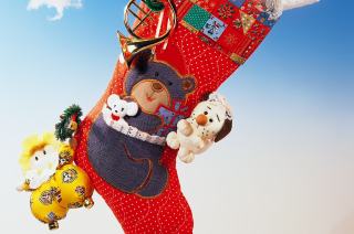 Christmas Gift Socks Background for Android, iPhone and iPad
