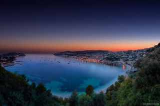 Villefranche sur Mer on French Riviera Background for Android, iPhone and iPad