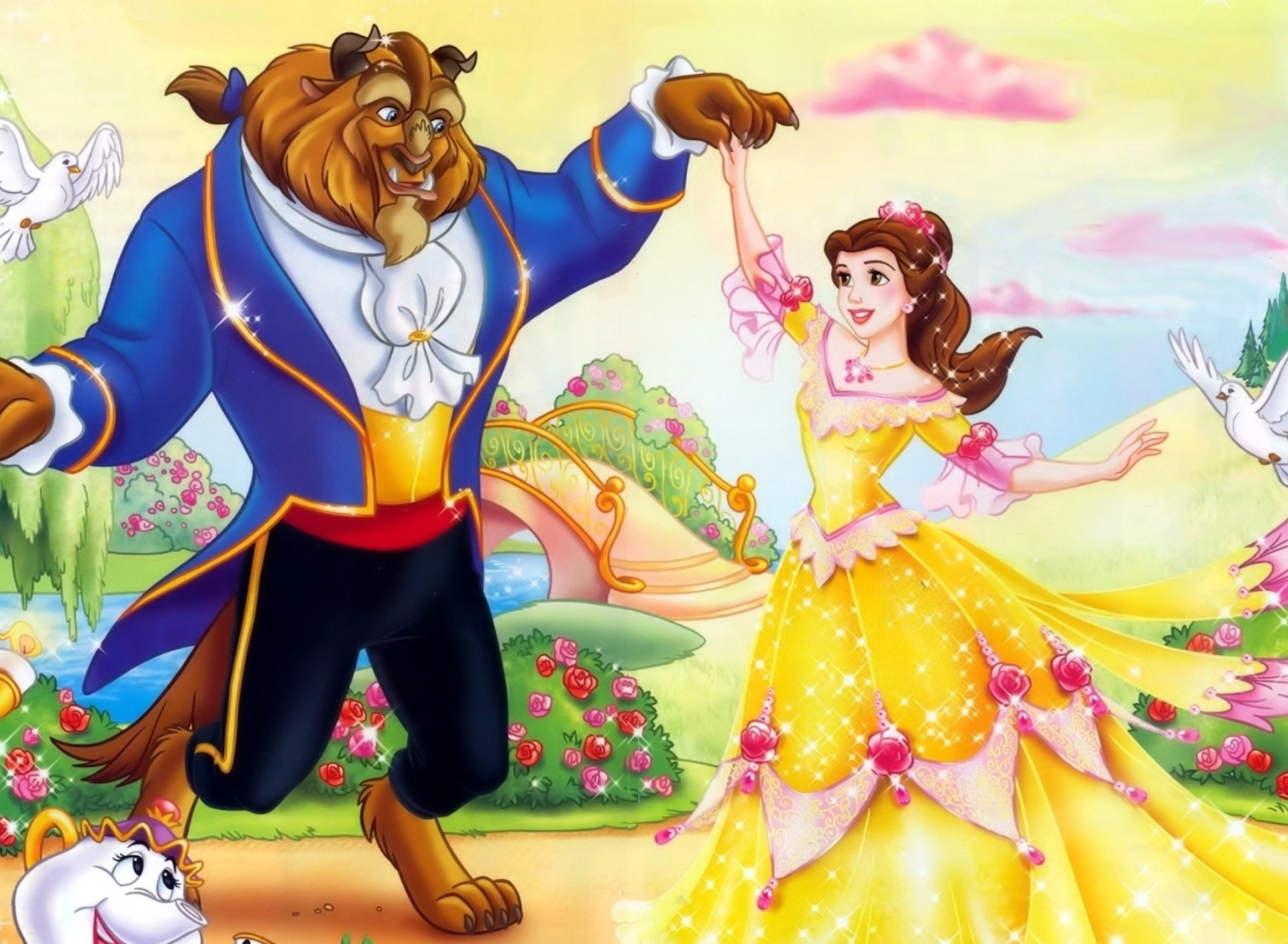 Screenshot №1 pro téma Beauty and the Beast Disney Cartoon 1920x1408