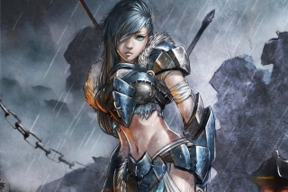 Woman Warrior Background for Android, iPhone and iPad