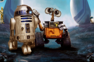 Cute Wall-E Background for Android, iPhone and iPad