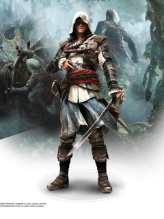 Screenshot №1 pro téma Assassins Creed Black Flag Game 240x320