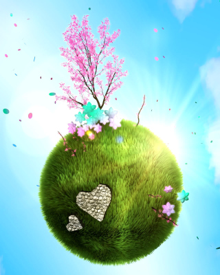 Free Green Planet Globe Picture for HTC Titan