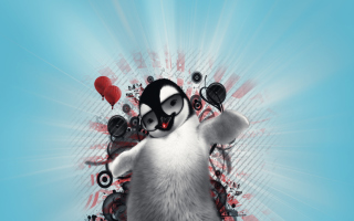 Dancing Penguin Picture for Android, iPhone and iPad