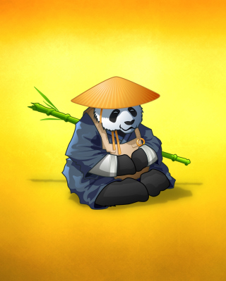 Funny Panda Illustration Wallpaper for HTC Titan