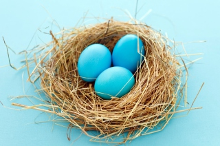 Blue Easter Eggs Wallpaper for Android, iPhone and iPad
