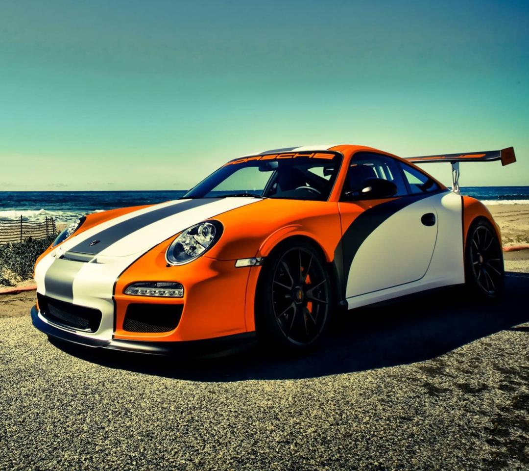 Orange Porsche 911 para Motorola RAZR XT910