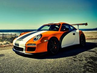 Orange Porsche 911 para Nokia X2-01